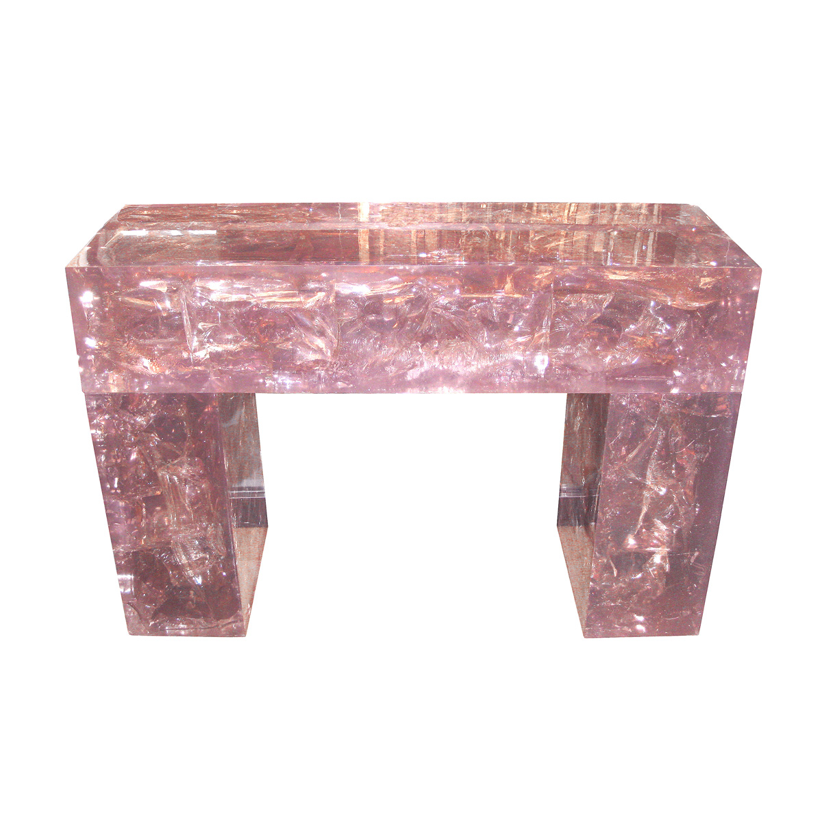 Fractale Resin Slab Console Table Console Tables John