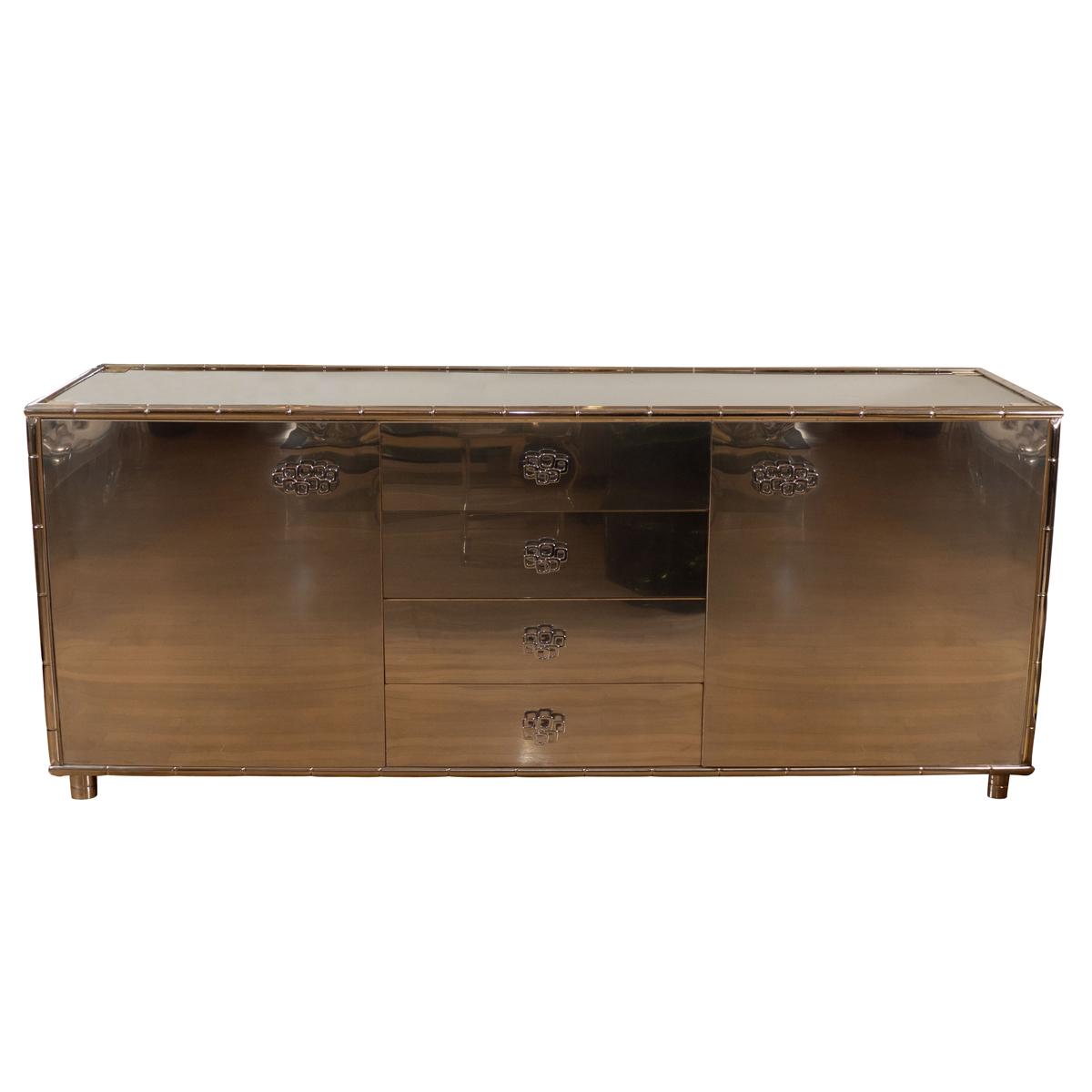 rectangular stainless steel sideboard sideboards john. Black Bedroom Furniture Sets. Home Design Ideas