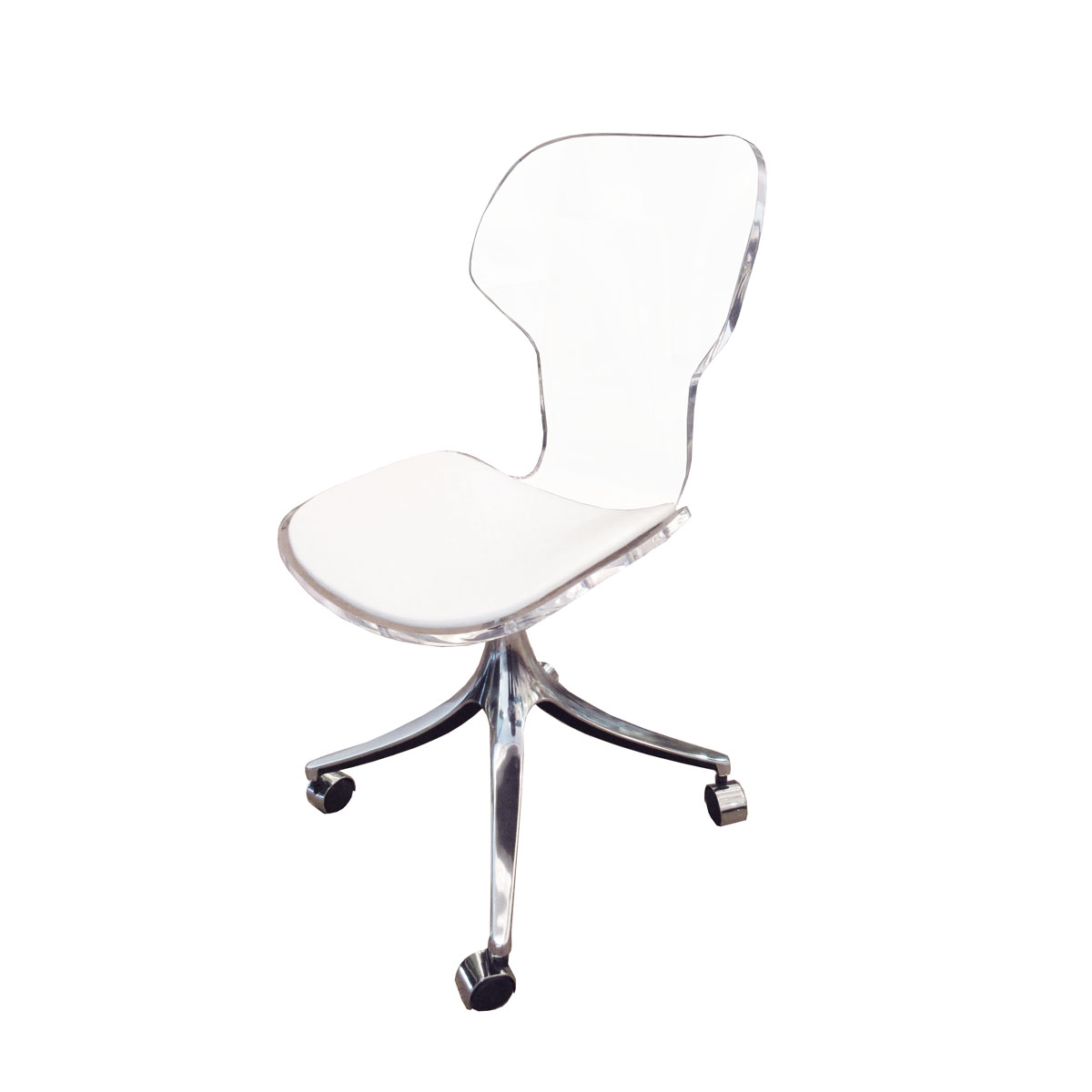 Rolling Lucite Chair Desk Chairs John Salibello
