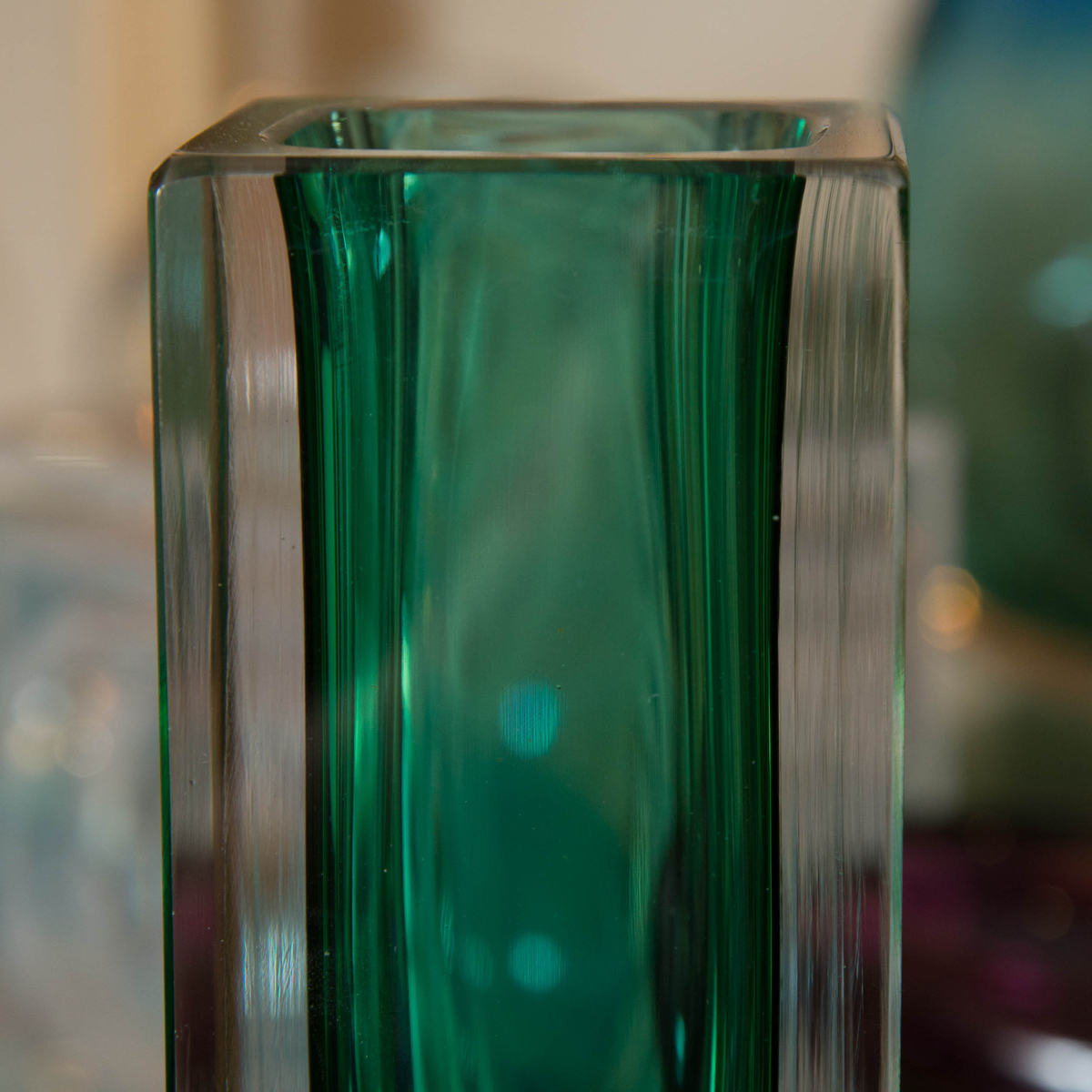 Emerald Green Murano Glass Vase Vases John Salibello