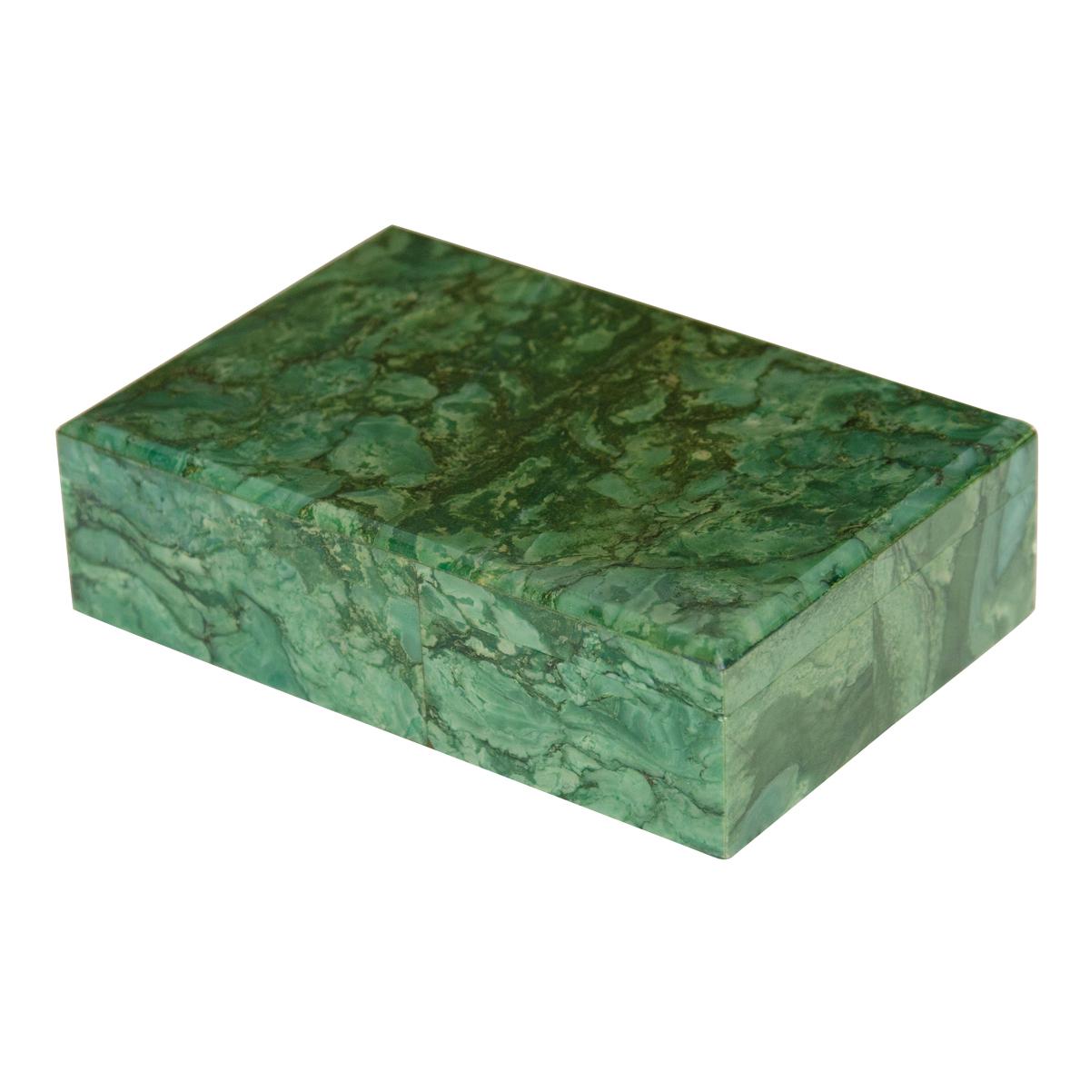 Green Serpentine Stone Box Boxes John Salibello