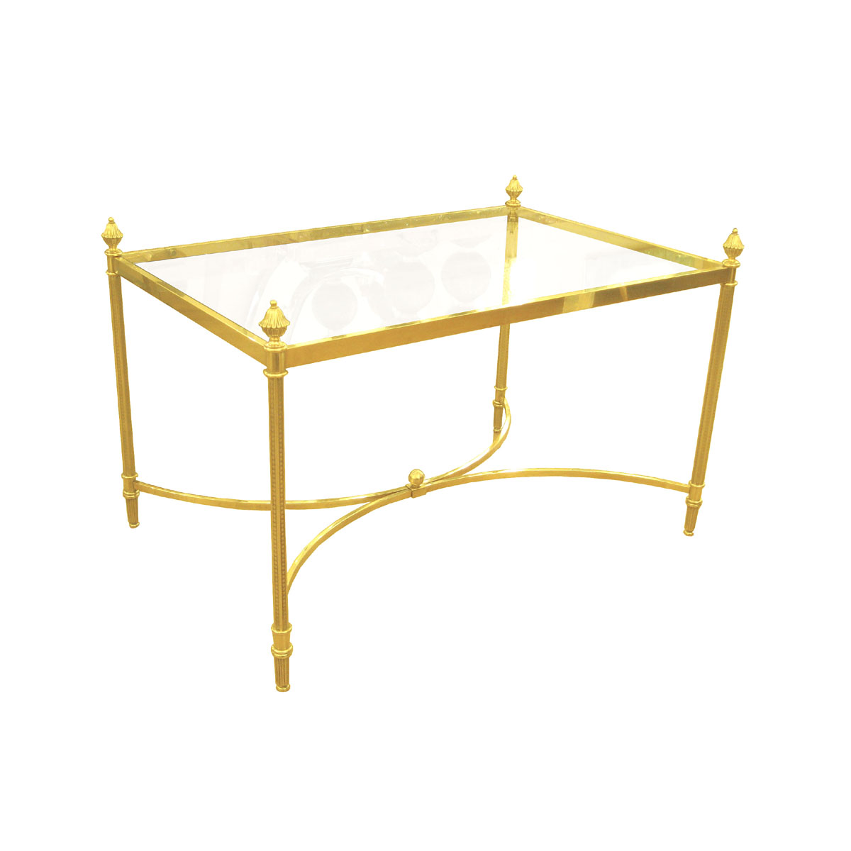 Brass and glass side table with acorn finials Side amp End  : 211F5456 from www.johnsalibello.com size 1200 x 1200 jpeg 98kB