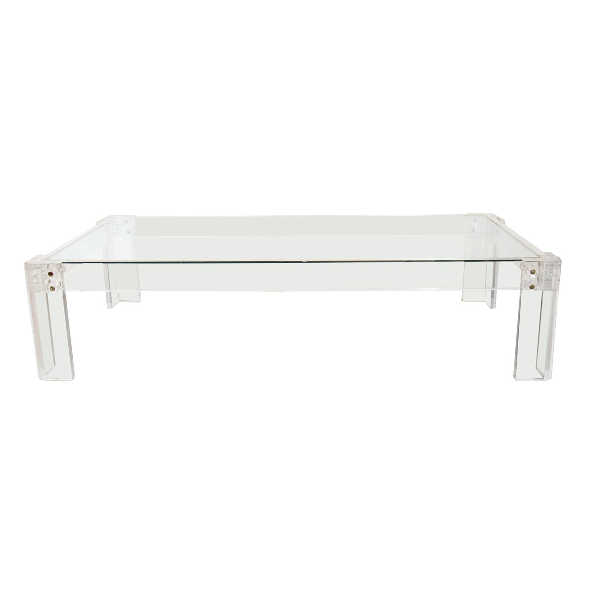 Rectangular Lucite Coffee Table Coffee Tables John Salibello