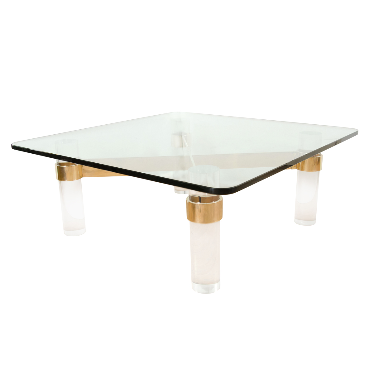 Square Lucite Coffee Table Coffee Tables John Salibello