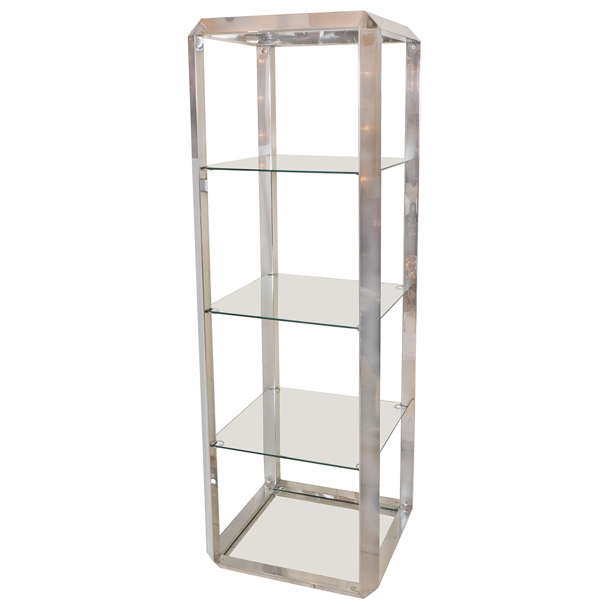 Chrome And Glass Four Shelf Etagere  Etageres  John. Desk Lamps. Roof Awning. Farmhouse Table With Metal Chairs. Ebony Color. Red Sectional. White River Granite. Curtains For Bay Windows. Hexagon Tile Bathroom Floor