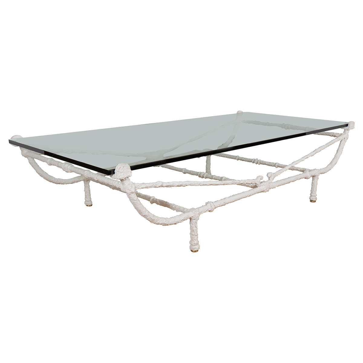 Rectangular white wrought iron coffee table coffee tables john salibello Wrought iron coffee tables