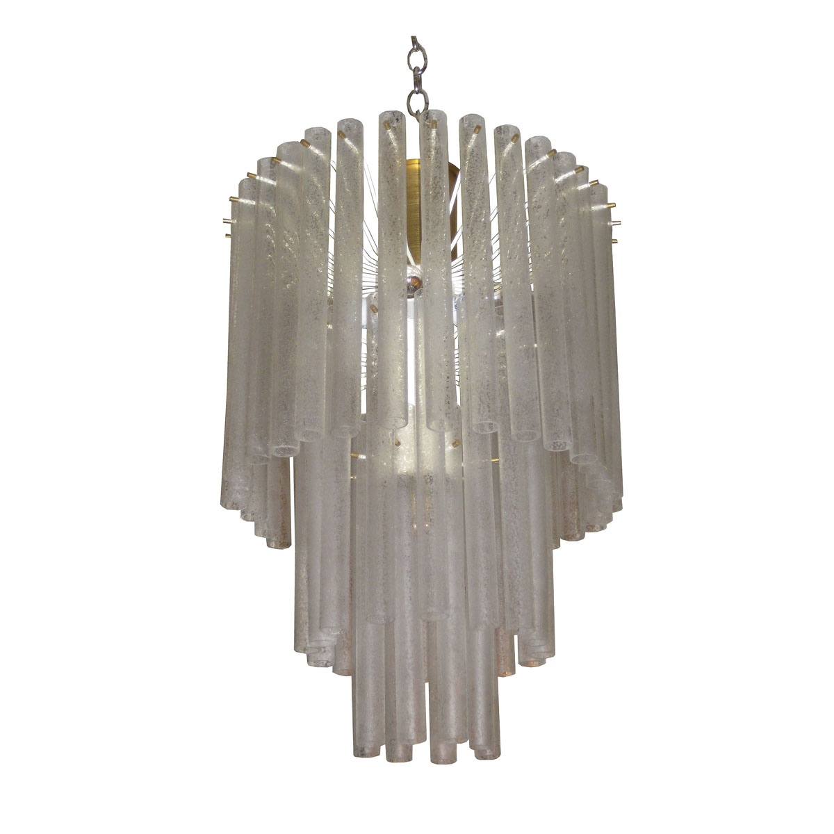 Three tier frosted glass tube chandelier by venini chandeliers three tier frosted glass tube chandelier by venini chandeliers pendants john salibello aloadofball Images