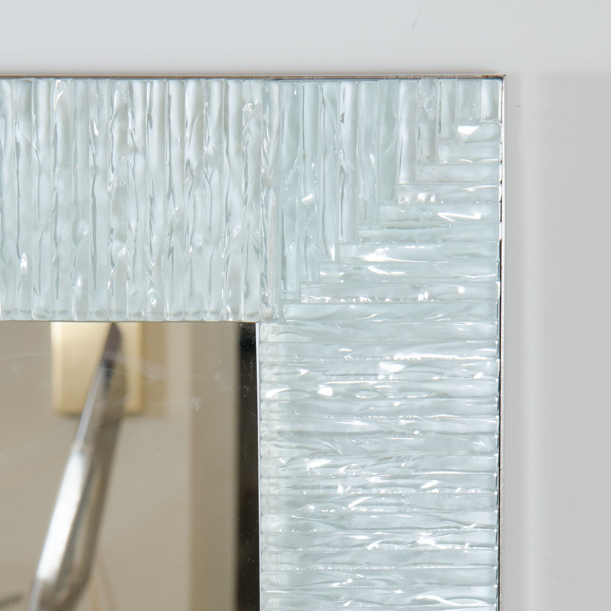 Fragmented Glass Surround Mirror Wall John Salibello