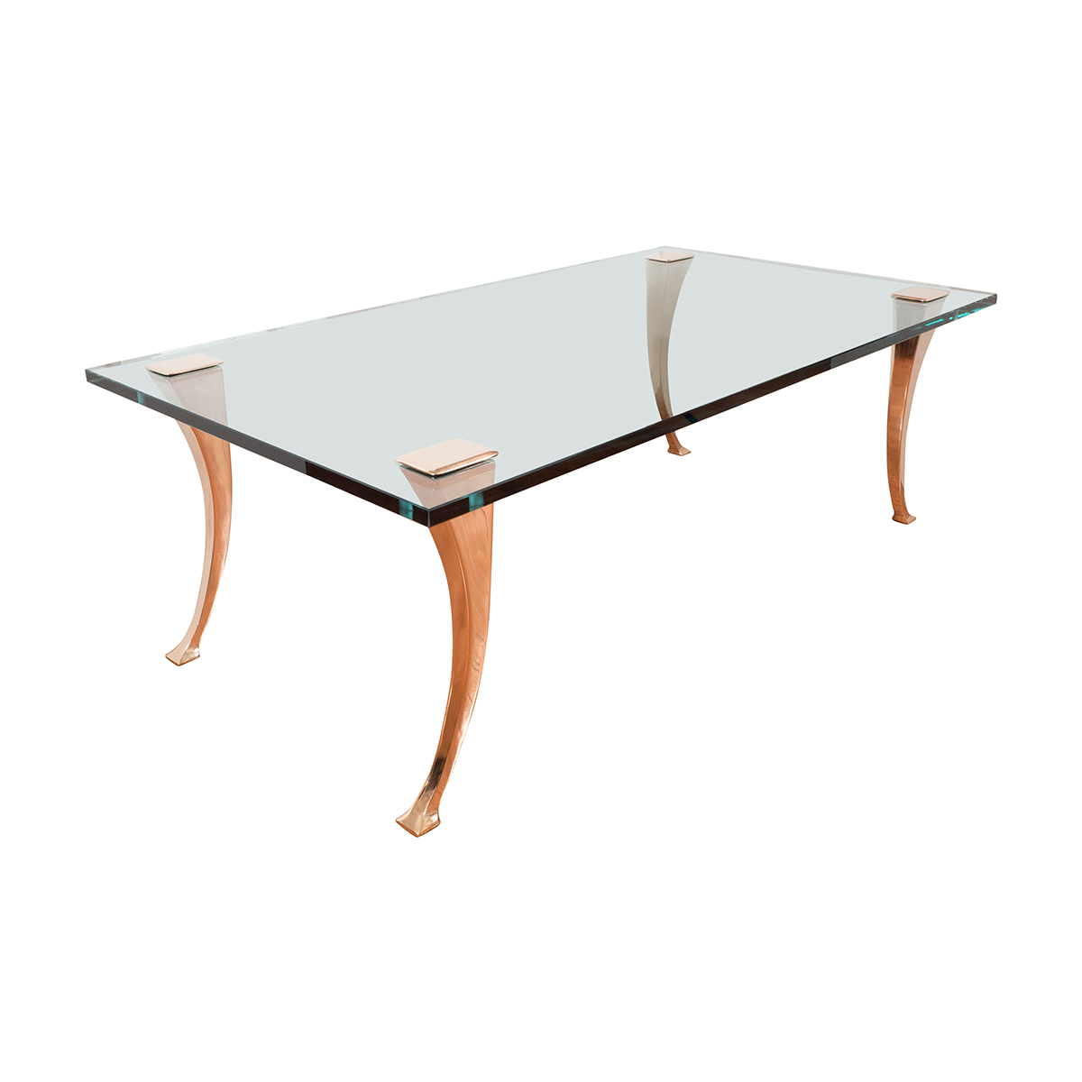 Glass Top Coffee Table With Stylized Legs