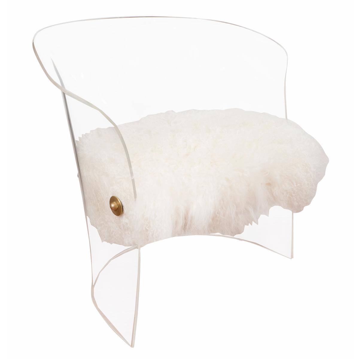 Single Barrel Back Lucite Chair Single Chair John Salibello