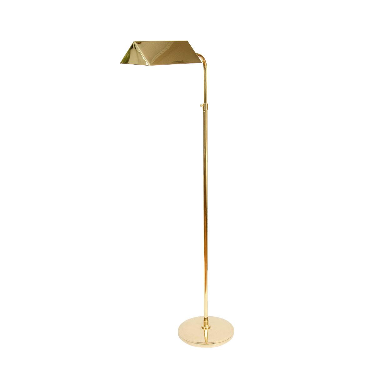 Single brass adjustable floor lamp floor lamps john salibello mozeypictures Choice Image