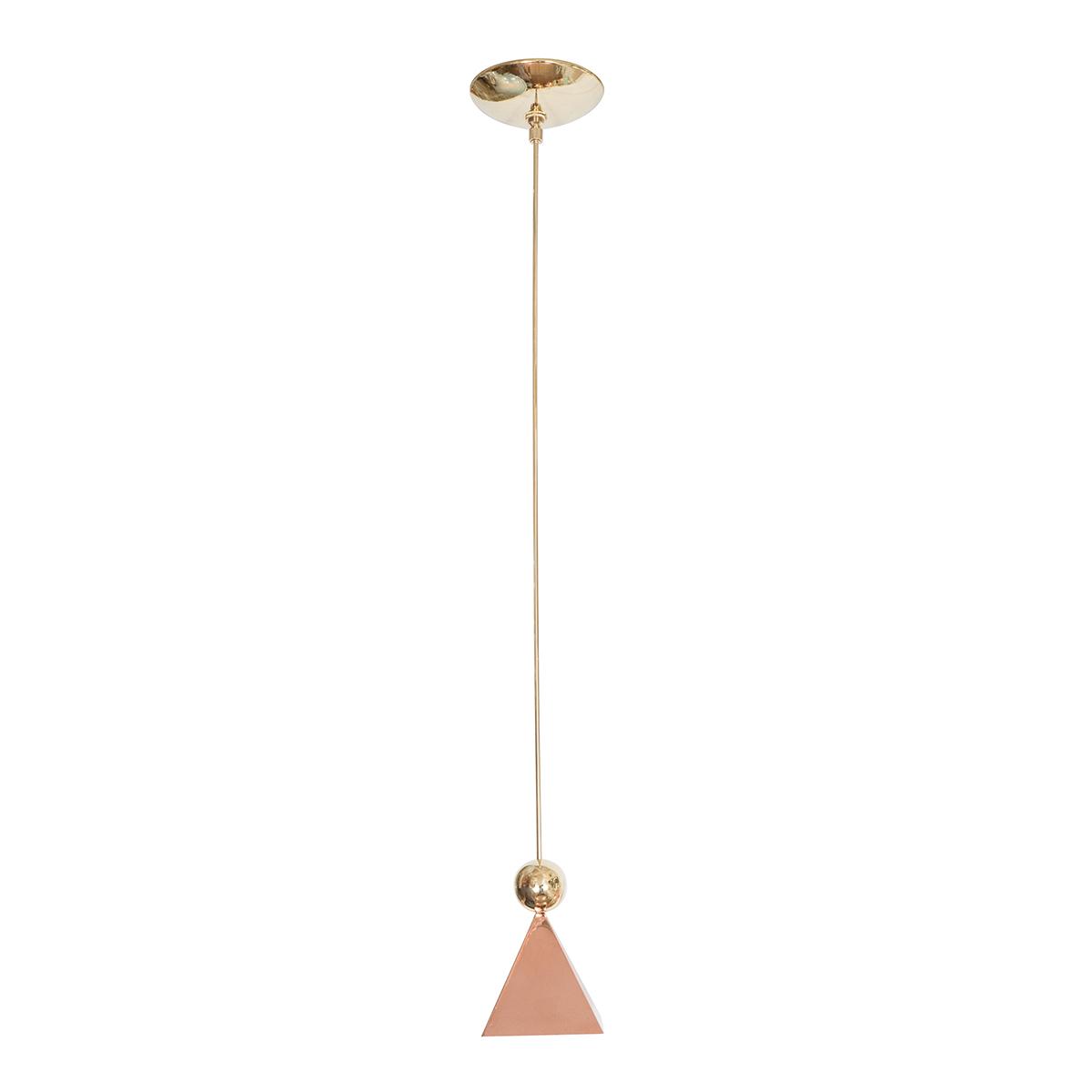 Copper pyramid pendant | Chandeliers & Pendants | John Salibello
