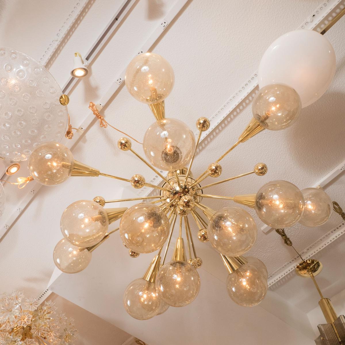 Brass sputnik style chandelier chandeliers pendants for Sputnik chandelier