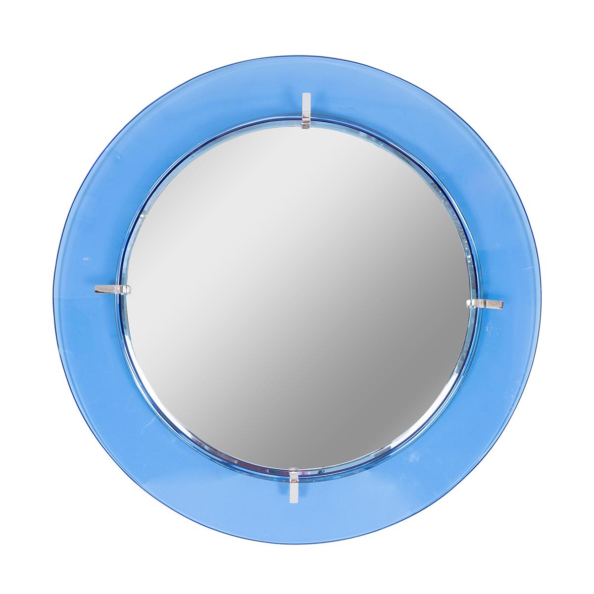 Blue glass surround mirror  2db59b46a51