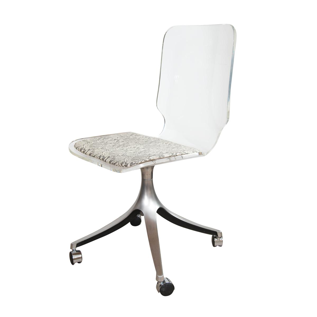 Image of: Lucite Desk Chair Chairs John Salibello