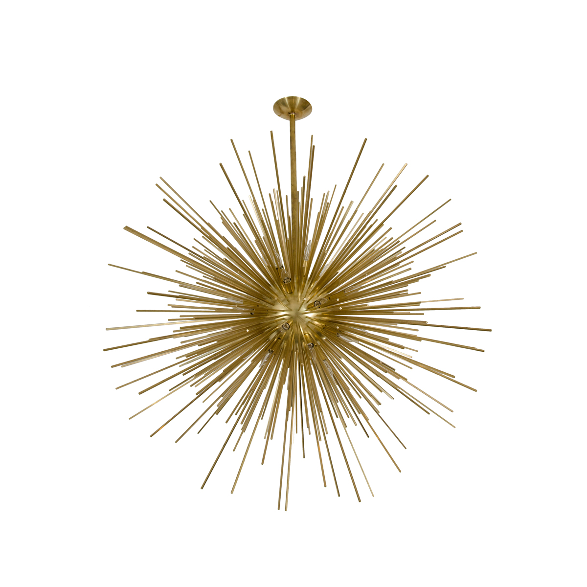 Brass Sputnik Chandelier: Monumental brass sputnik chandelier | Chandeliers & Pendants | John  Salibello,Lighting