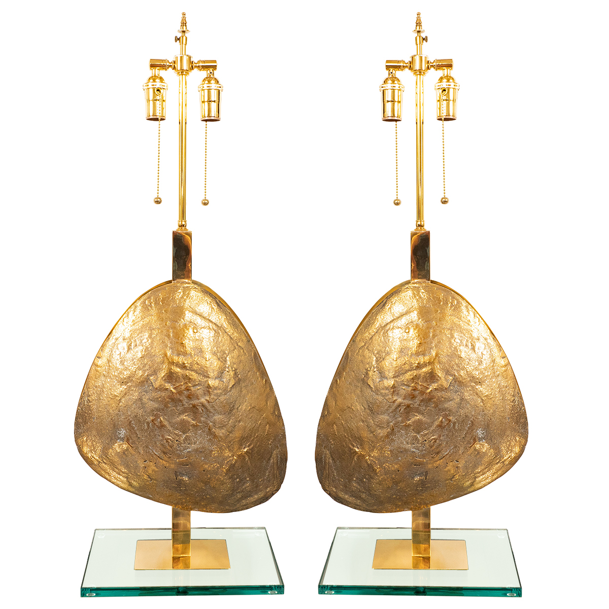 Pair of hammered brass pebble table lamps table lamps john pair of hammered brass pebble table lamps table lamps john salibello aloadofball Images