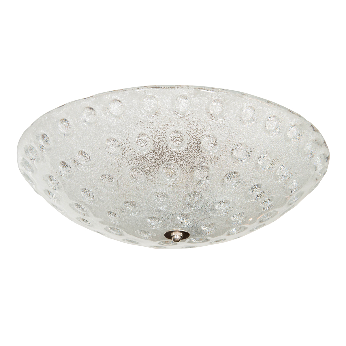 frosted murano glass flush mount ceiling fixture with. Black Bedroom Furniture Sets. Home Design Ideas