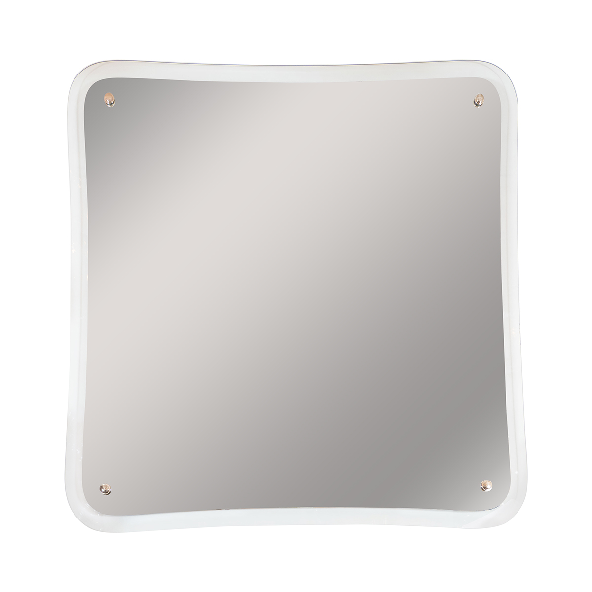 Large square mirror with glass surround wall john for Large square mirror