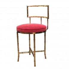 Lucite swivel bar stool with upholstered seat. | Stools | John ...