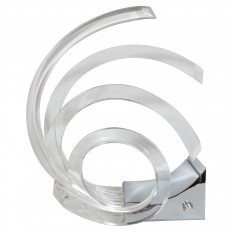 Single chrome and Lucite sculptural lamp