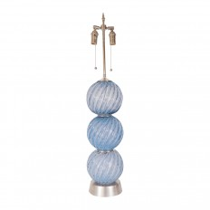 Single light periwinkle Murano glass lamp