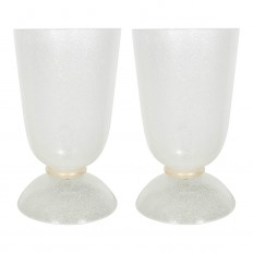 Pair of glass urn form table lamps