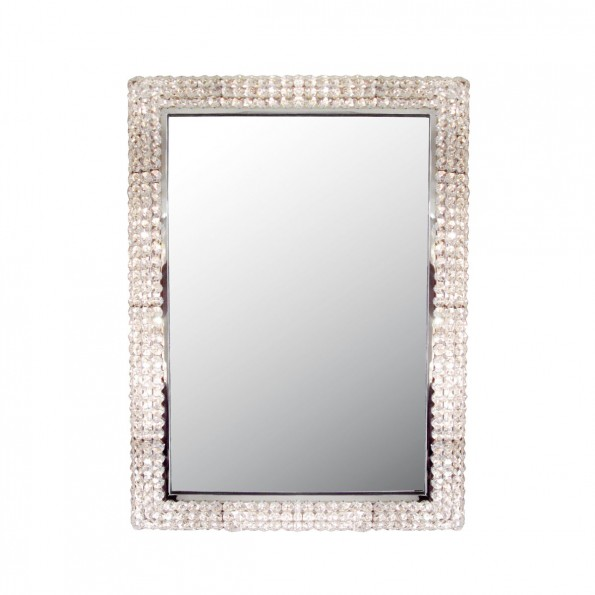 Chrome Backlit Mirror With Quot Jewel Quot Surround Lighted